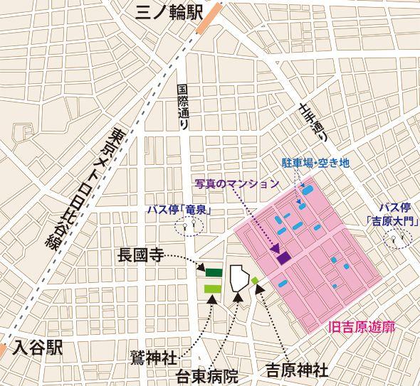 吉原周辺の地図(編集部作成)