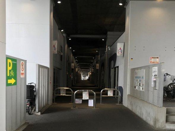 阿佐ヶ谷アニメストリートの駅側の入り口