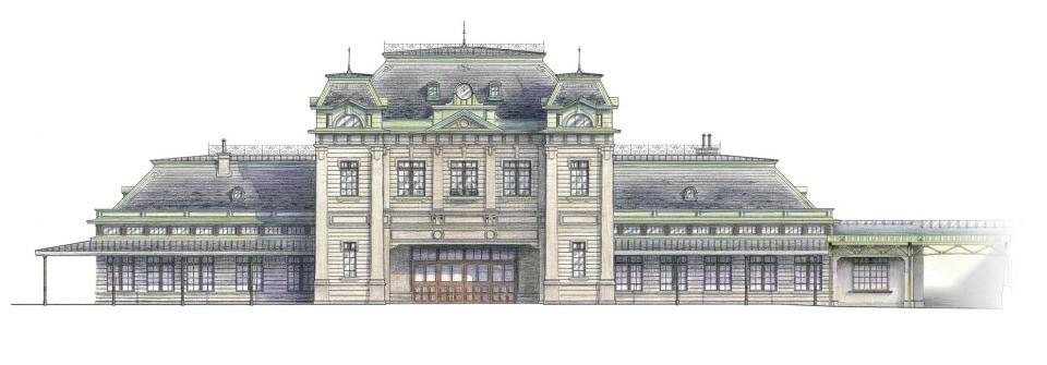 駅舎イメージ図