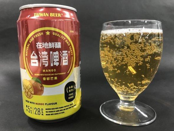 台湾マンゴービール。価格は298円(税込)だ
