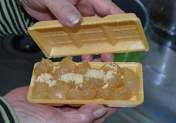 モナカも食べてゴミが出ない(画像提供:博多一番太鼓、以下同)