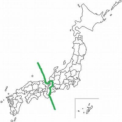 気象庁の区分けによる境目(Jタウンネット編集部が加工・作成)