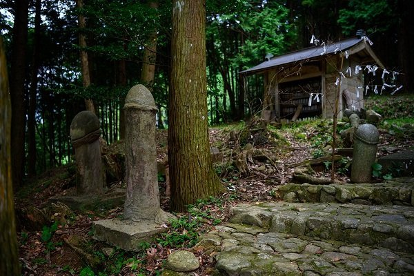 麻羅観音に奉納された「大きな一物」の石像。 とんぼさん(@tonbo1357)のツイートより