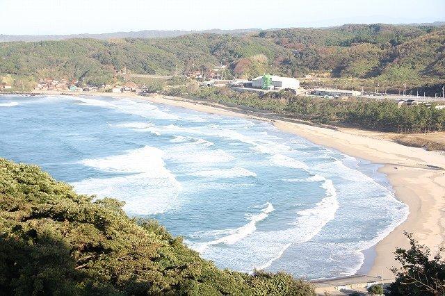 湯梨浜のビーチは綺麗だった(画像は19年11月8日、編集部撮影)