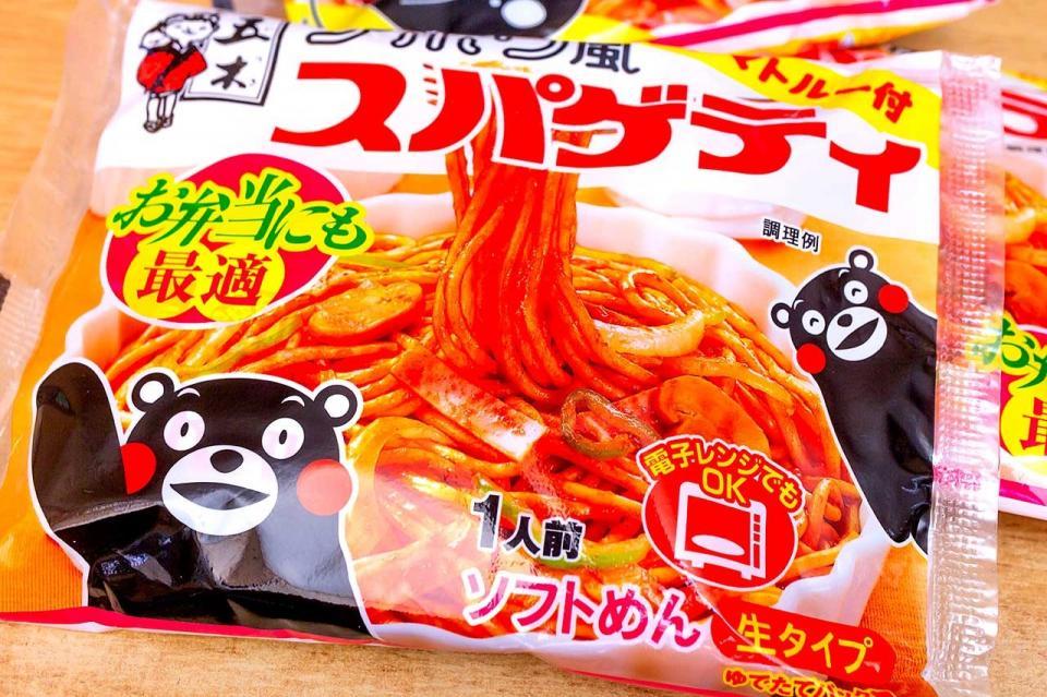 くまモンが目印の「ナポリ風スパゲティ」