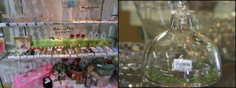 左は、売り場の写真。右は...(画像はサハラガラスパーク公式サイトから)
