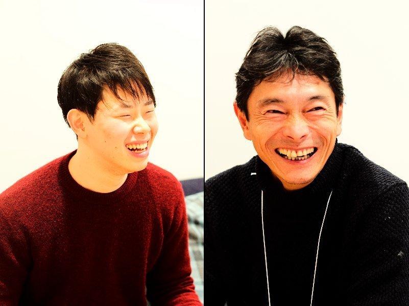 参加者の佐々木玲生さん(左)、光貞宏さん(右)