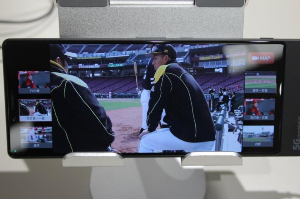 マルチアングル視聴のデバイスでは6アングルが同時に見られる
