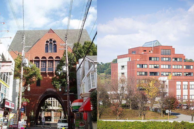 左は近畿大学(Wikimedia Commons、Hasecさん撮影)、右は金沢大学(Rinkokuさん撮影)