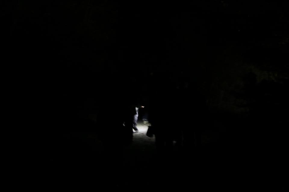 ライトを落とすと真っ暗