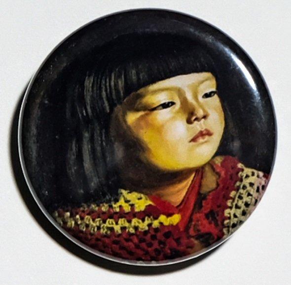毛糸肩掛せる麗子肖像(1920)