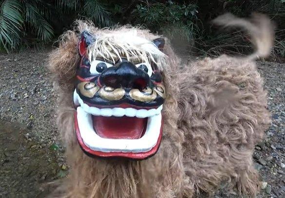これが沖縄の獅子舞だ(画像提供:創作芸団レキオス)