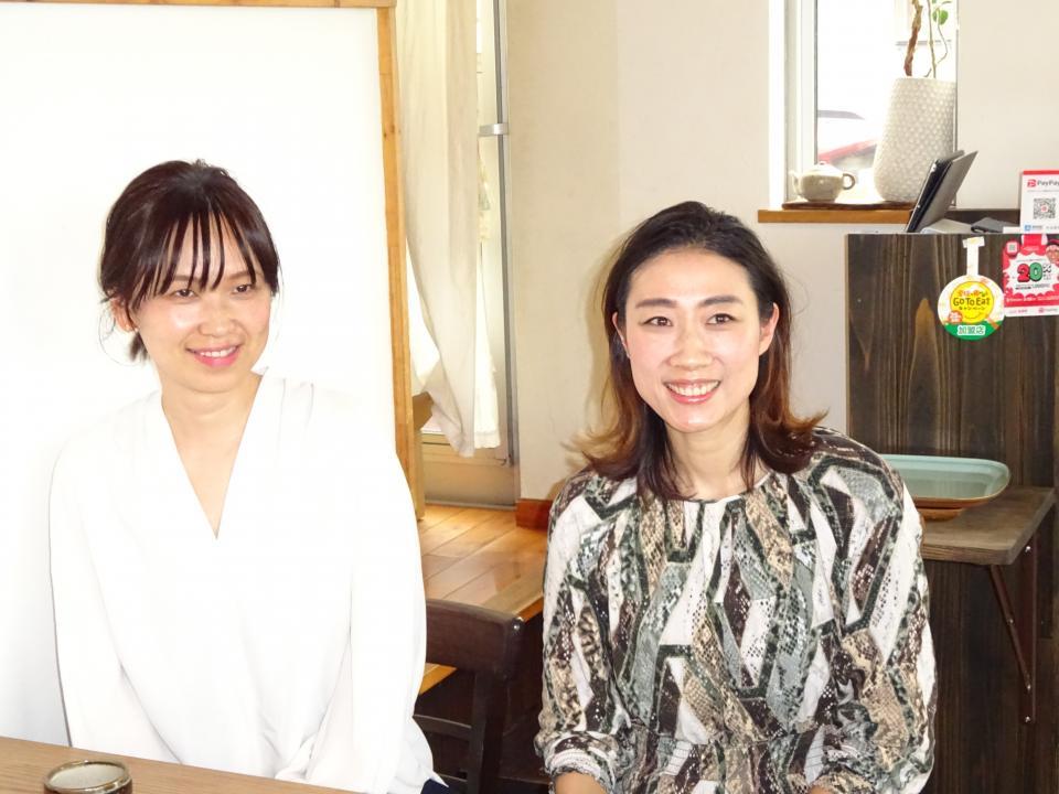(左)近藤牧子さん (右)石丸千晴さん