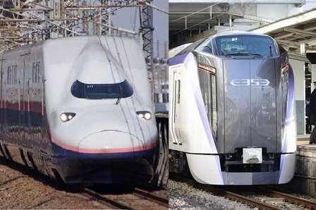 この2本の列車にピンとくる音楽ファンは?(画像はWikimedia Commonsより)