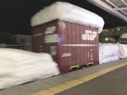 北国から来た貨物列車が、荷物と一緒に運んできたプレゼントがこちら