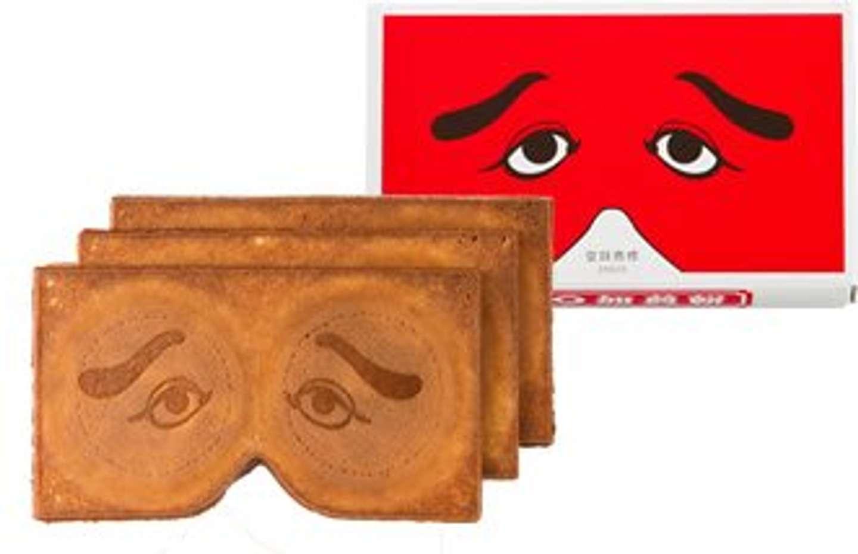 郷土芸能「博多仁和加」の反面を象った煎餅(画像は製造元・東雲堂のウェブサイトより)