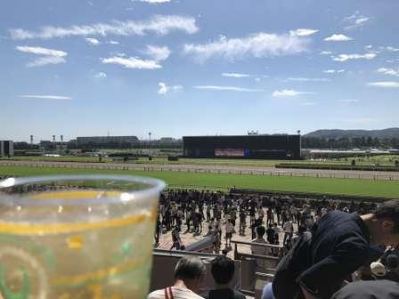2018年10月7日(G2毎日王冠の開催日)昼ごろの東京競馬場屋外スタンド席(以下、画像はまっちーさんのツイートより)