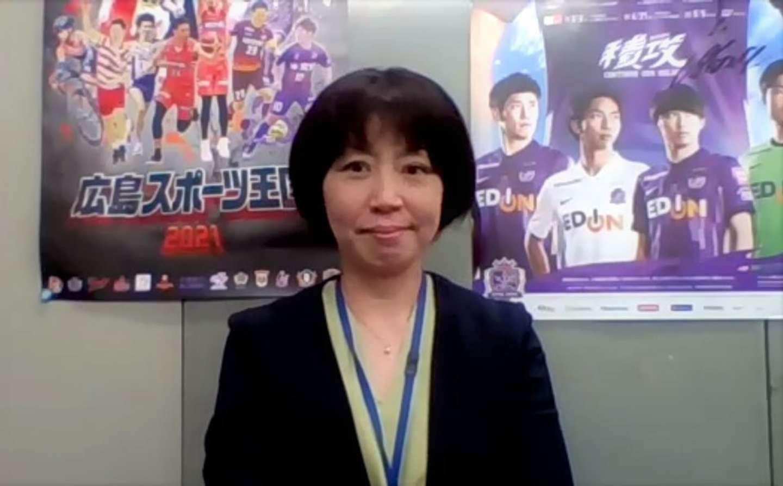 県職員の林さん。「広島県民はスポーツへの愛があふれています。現地で応援したい!という人は多いです」