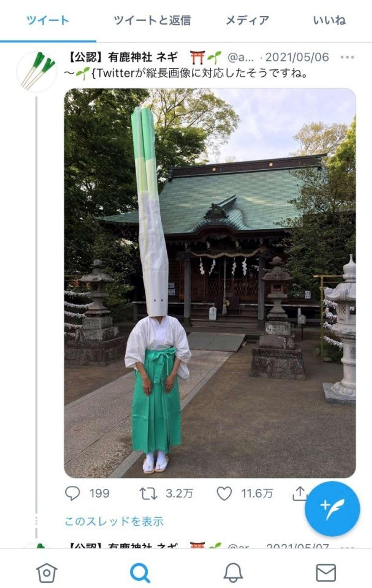 【公認】有鹿神社 ネギ(@arukajinjanegi)のツイート