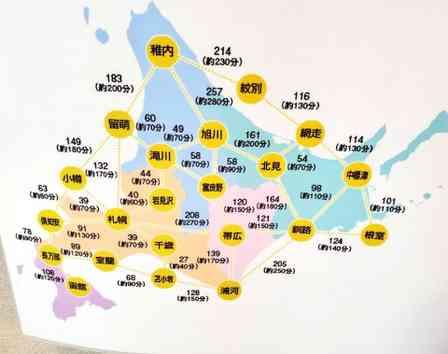「札幌と知床を日帰りで観光したい!」←無茶な北海道旅行を計画する前に、こちらの地図をご覧ください