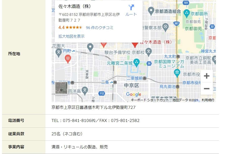 (佐々木酒造 公式ウェブサイトより)