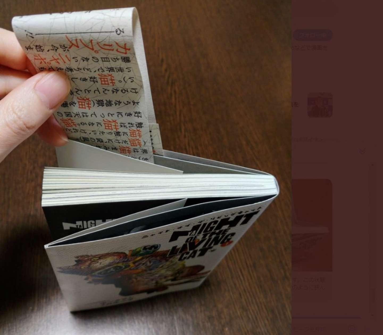 使用している本は、「ニャイト・オブ・ザ・リビング・キャット」(写真はカサネビさん提供)