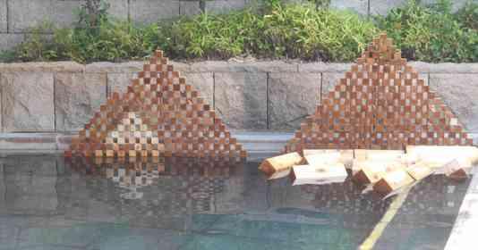 「お客様の中にファラオはいらっしゃいませんか?」 大浴場に人知れず建設された「ヒノキのピラミッド」に反響