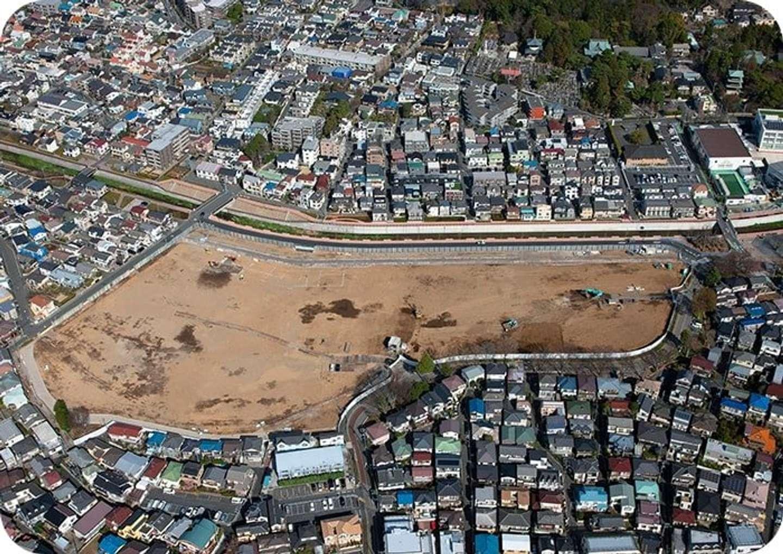 石神井公園団地、跡地。2021年3月時点(建替組合が運営するエリア情報サイト「Shakujii-ii」より)