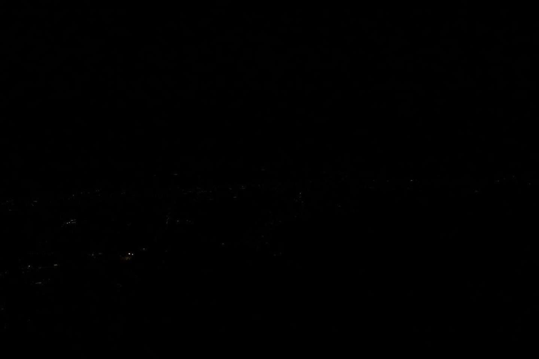 20時10分:皿倉山展望台から筆者撮影
