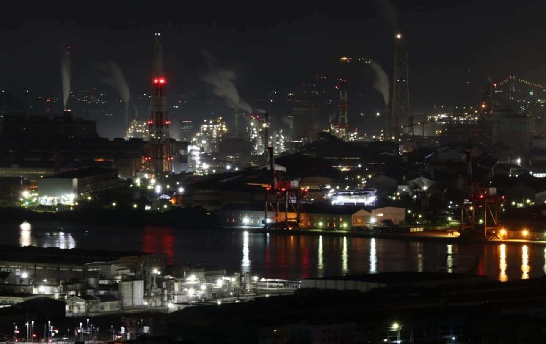 22時:筆者撮影の工場夜景