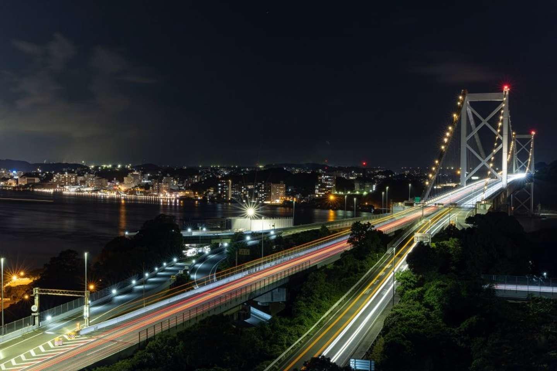 22時50分:戸次さん撮影。関門橋がすぐそこに