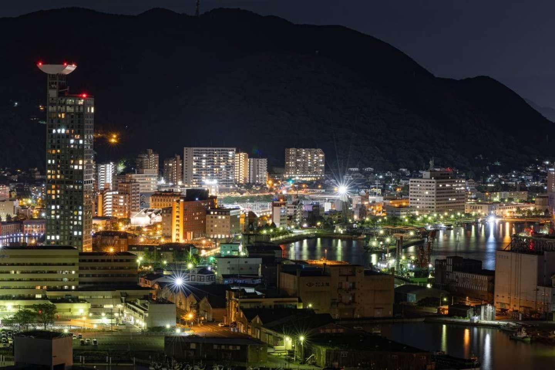 22時50分:戸次さん撮影。門司港レトロ周辺は夜更けでも明るい