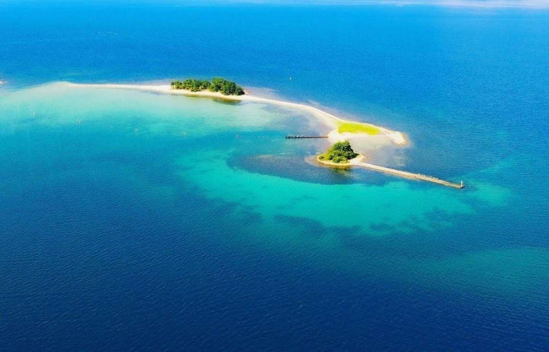 ここが水島だ!(写真は福井県提供)