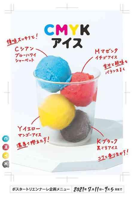 口の中でいろんな色が作れそう...! 富山県美術館で、あの「CMYK」を食べられるらしい