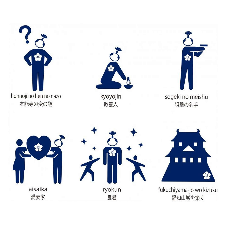 明智光秀をピクトグラムで表現(画像は福知山市公式ツイッターより)