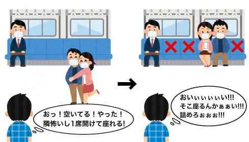 「そこに座るんかぁぁい!」 空いた電車でカップルがまさかの行動...動揺の叫びに共感相次ぐ