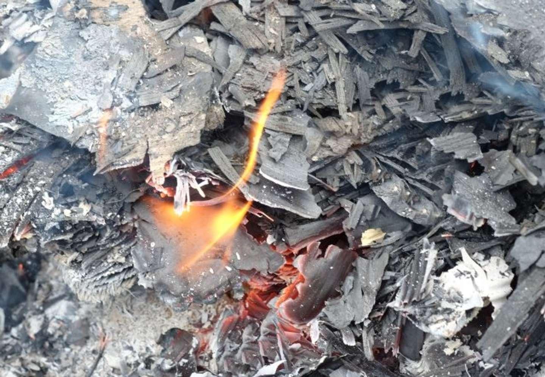 隣の建物の屋上でゴミを燃やすお爺さん(画像はイメージ)