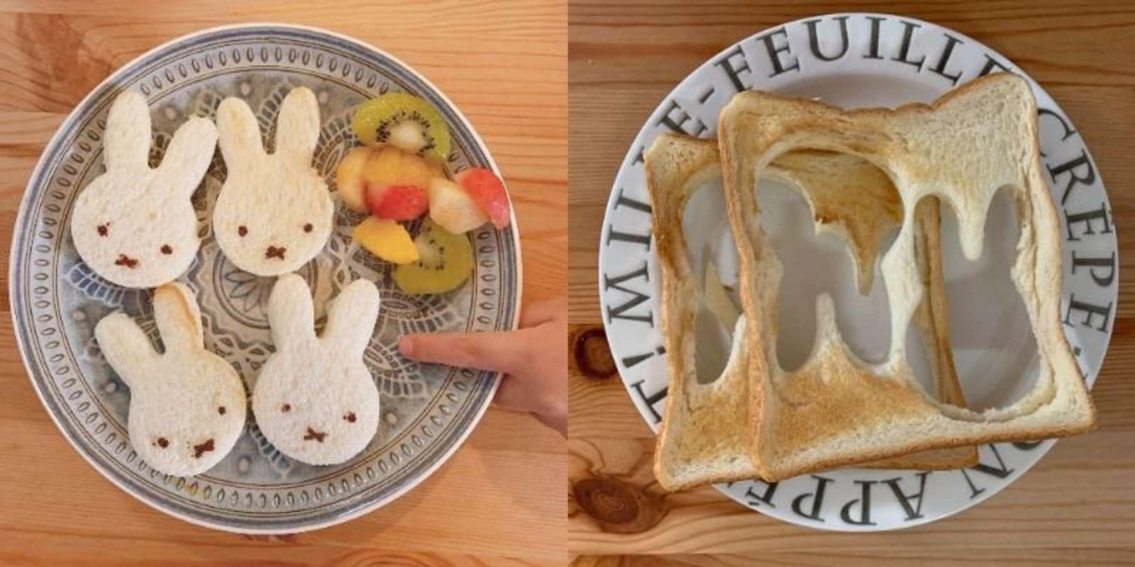 「息子の朝食と母の朝食」(画像はむぎとろ(@mugimugi_trr)さんから)