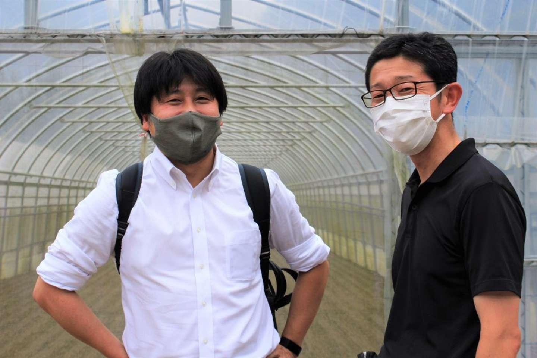 沖川さん(左)と米山さん/沖川さん「今回の企画は、私が数年前、広島市内の経営専門職大学院でおこなった『プロジェクト研究』にベースがあります」