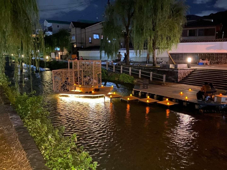 川の上に茶室が(画像はスペースデザインカレッジ京都校提供)