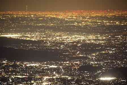 スカイツリーの輝きは、群馬からも見えるんです 「関東平野の平らさ」を痛感する写真に反響