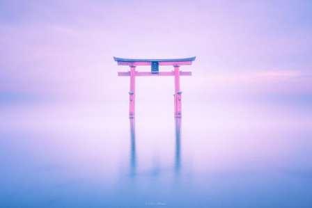 異世界に繋がってそう... 滋賀にある「天空の鳥居」が幻想的すぎる