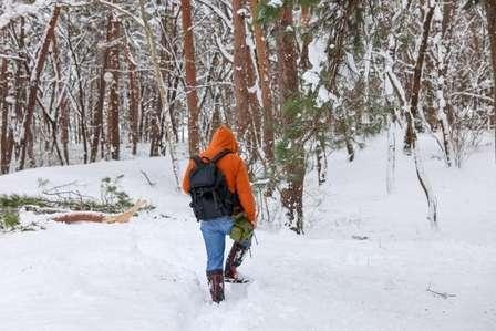 深い雪の中を進むときに…(画像はイメージ)
